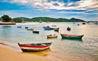 Заставки лодки, море, океан