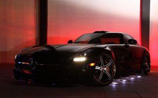 Photo free Mercedes, black, wheels