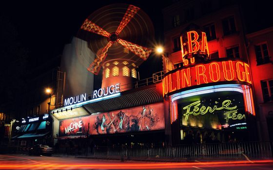 Photo free moulin rouge, signs, night