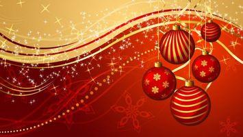 Бесплатные фото новогодние игрушки,снежинки,волны,украшения,красный,вектор,рисунок