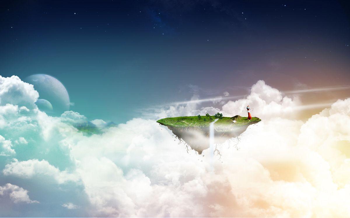 Фото бесплатно облака, тучи, остров - на рабочий стол