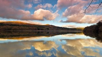 Фото бесплатно озеро, отражение, небо