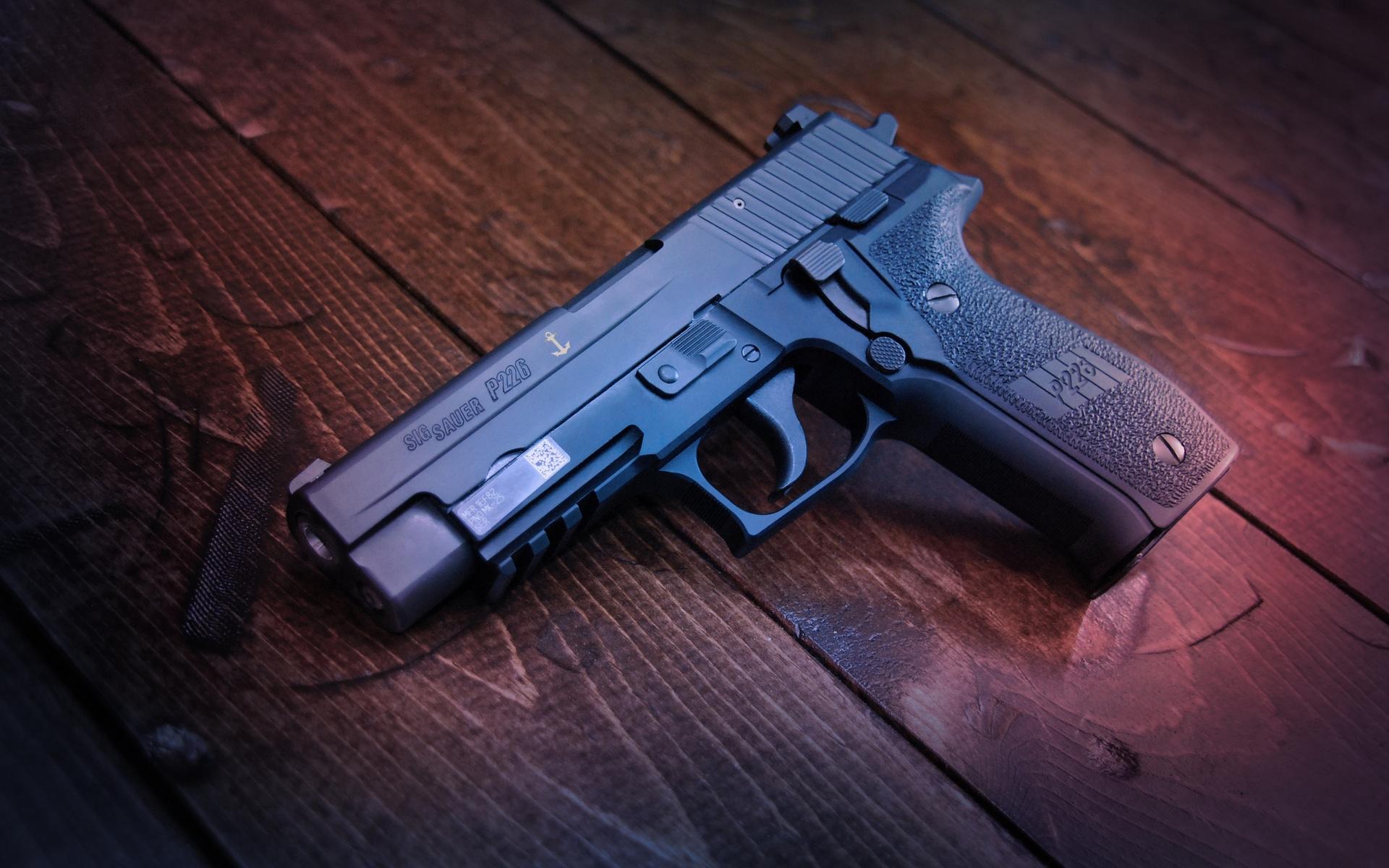 пистолет, черный, затвор