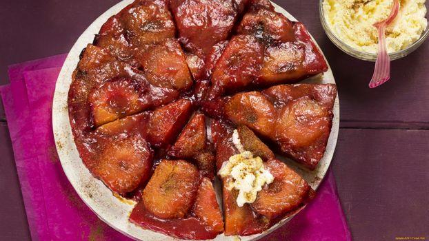 Фото бесплатно тарелка, белая, торт