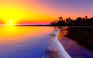 Фото бесплатно закат, пейзажи, остров