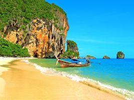 Бесплатные фото тропики,таиланд,море,пляж,лодка,пейзажи