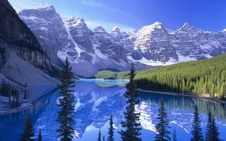 Бесплатные фото вода,река,горы,снег,озеро,скалы,лес