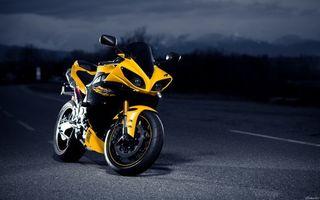 Бесплатные фото yamaha,жёлтая,дорога,мотоциклы