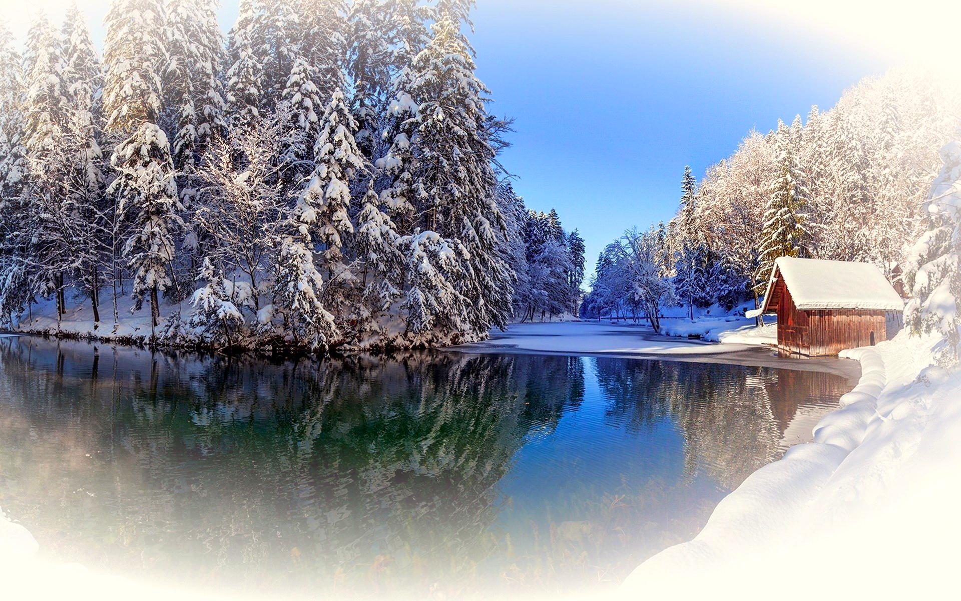 обои зима на рабочий стол пейзаж № 640780 бесплатно
