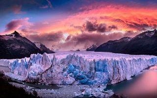 Бесплатные фото горы,ледник,вода,небо