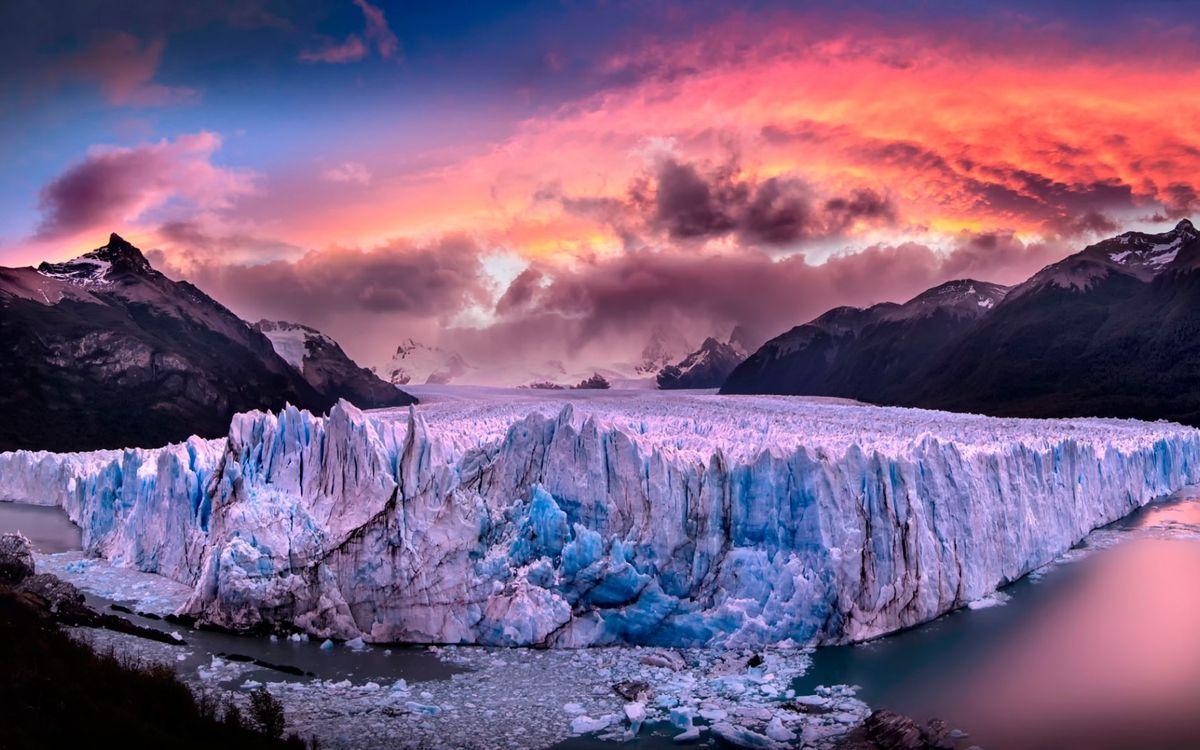 Фото бесплатно горы, ледник, вода - на рабочий стол