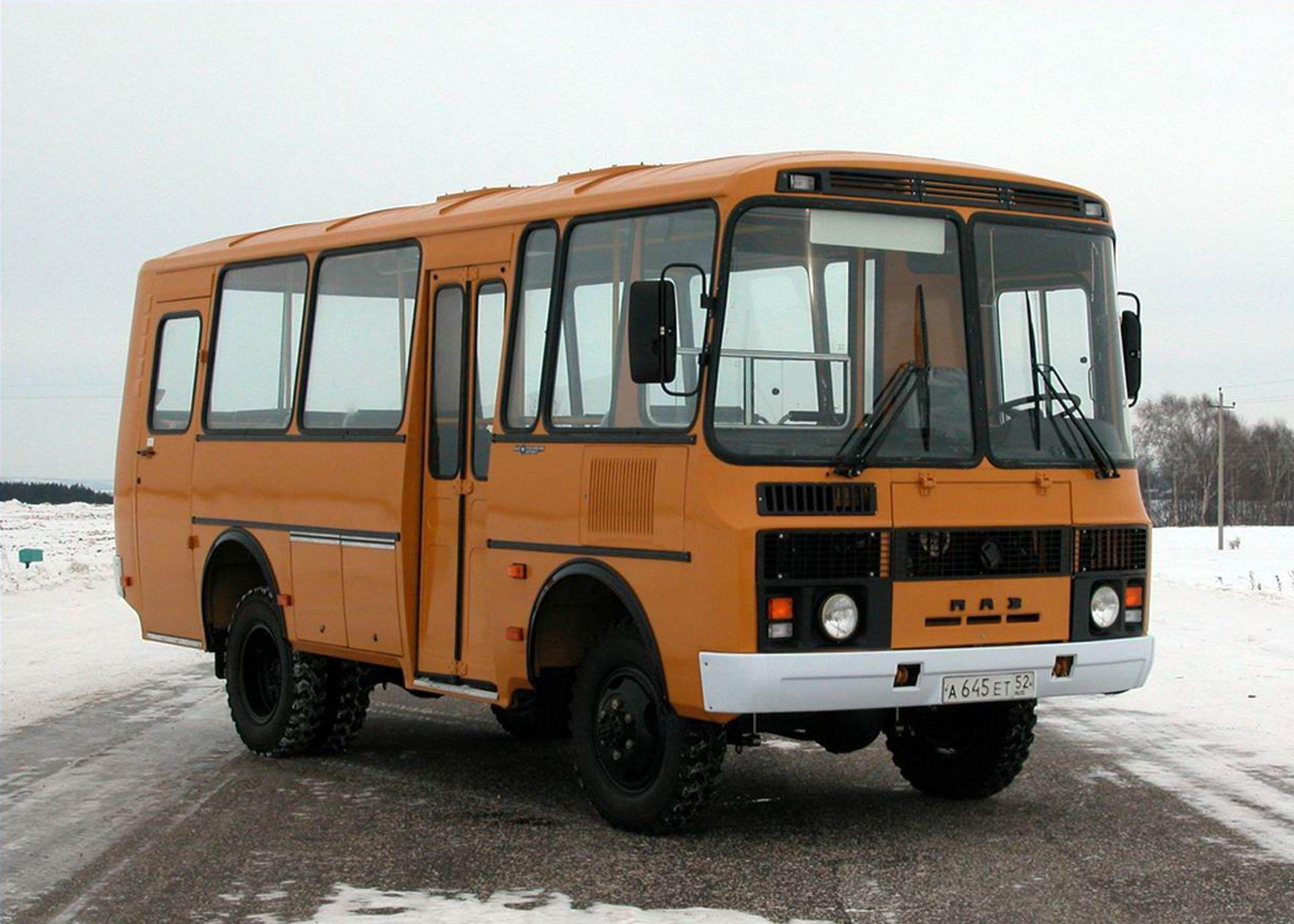 Обои автобус, ПАЗ, стоянка