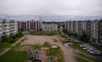 Бесплатные фото Приозерск,дома,детская площадка,машины,песок,осень