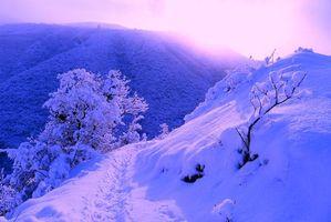 Заставки зима, горы, снег