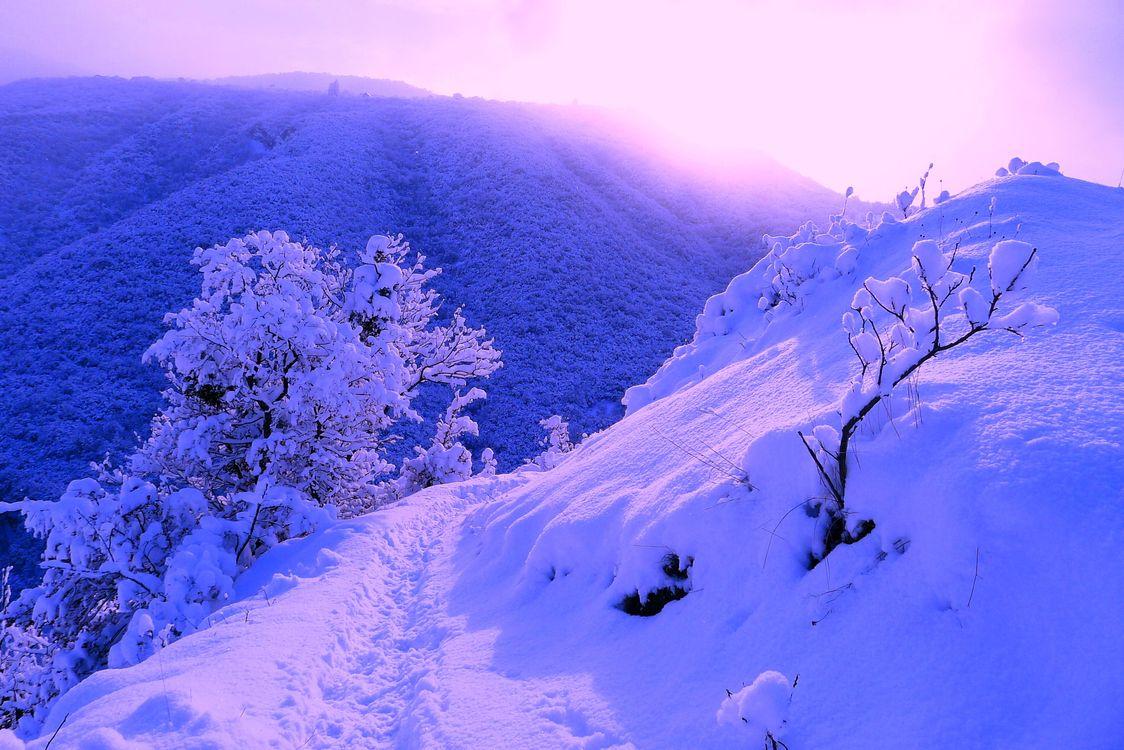 Фото бесплатно зима, горы, снег - на рабочий стол