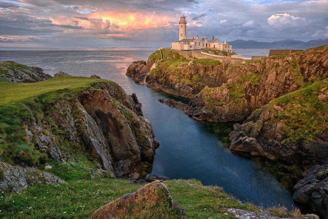 Фото бесплатно Fanad Peninsula, County Donegal, Ireland, Fanad Head Lighthouse, пейзажи