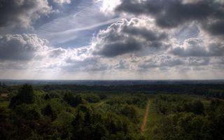 Фото бесплатно облака, деревья, кусты