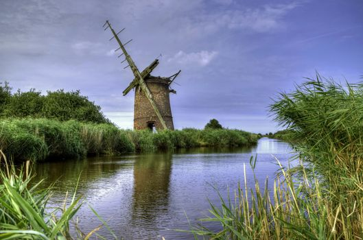 Фото бесплатно Brograve Mill, Norfolk, река, мельница, пейзаж