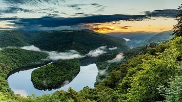 Бесплатные фото река Саар,Петля реки Саар в Метлахе,Германия,Метлах
