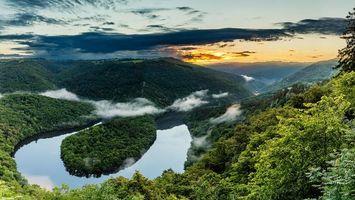 Фото бесплатно Метлах, Германия, петля реки Саар в Метлахе