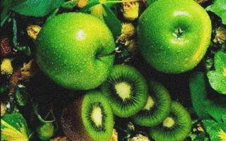 Заставки ломтики, фрукты, киви