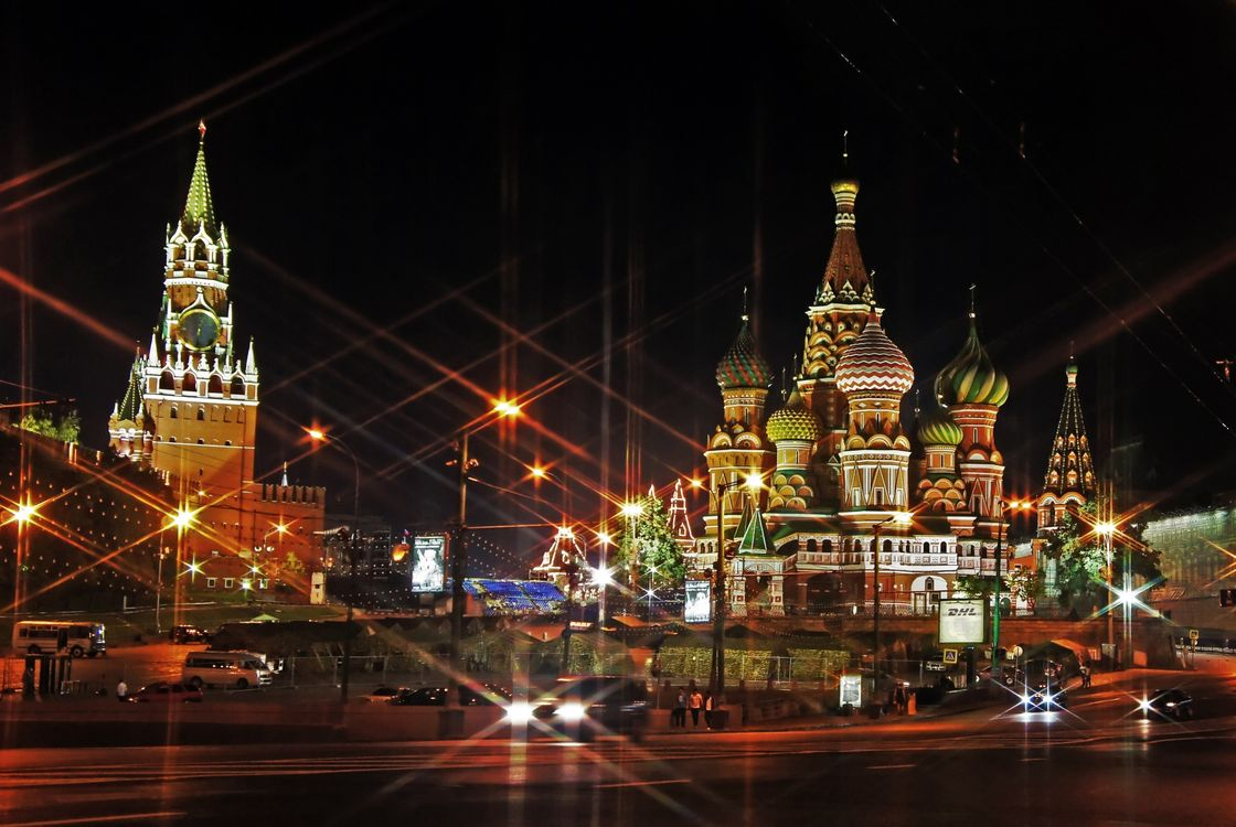 Фото бесплатно Москва, Храм Василия Блаженного, Россия - на рабочий стол