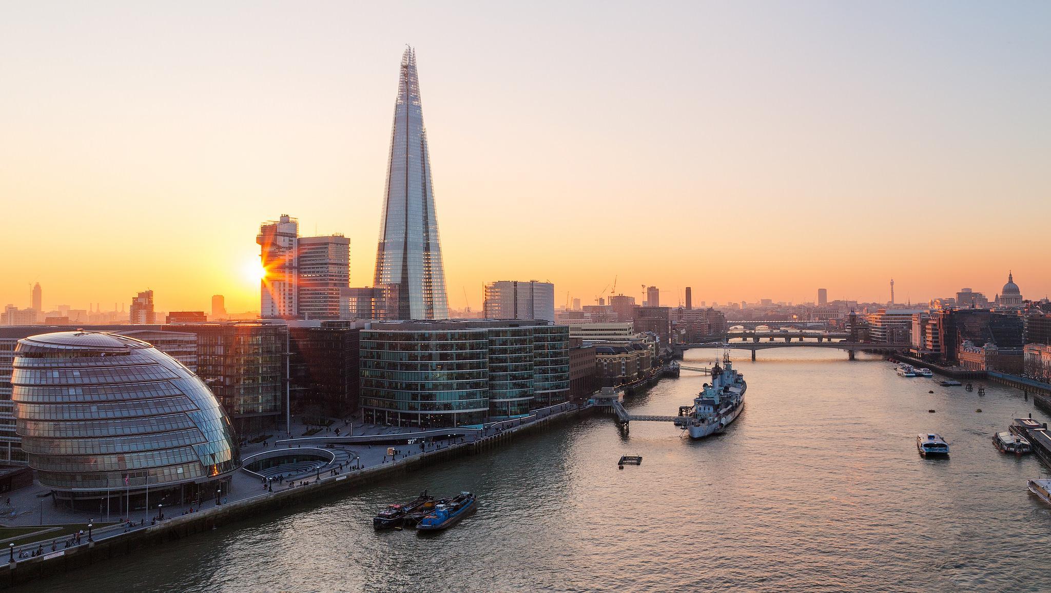обои River Thames, London, Великобритания, Лондон картинки фото