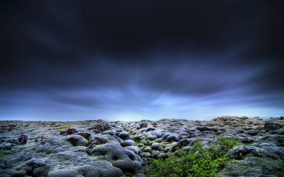 Заставки береговая линия, камни, небо