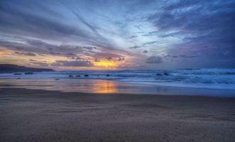 Бесплатные фото Guincho,Portugal,Пляж Гуинчо,Португалия,закат,море,волны