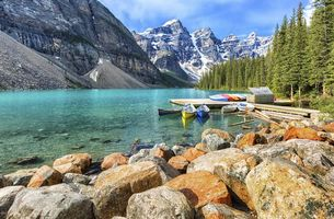 Бесплатные фото Moraine Lake,Banff National Park,Alberta,Canada