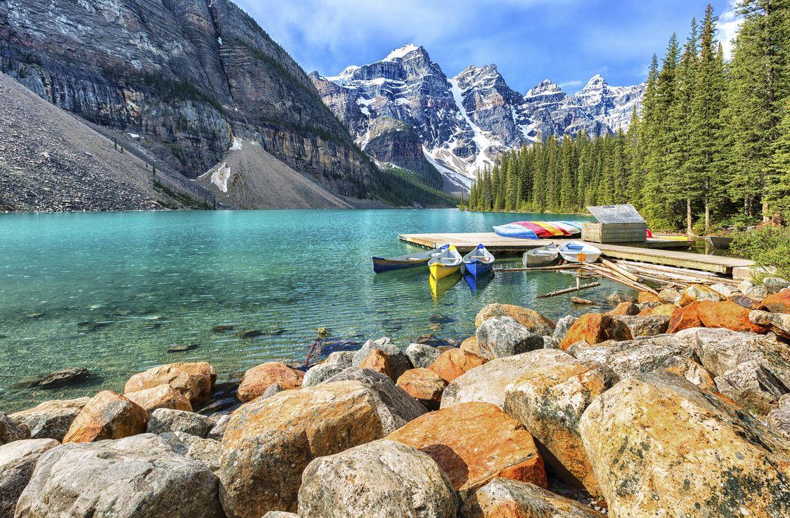 Фото бесплатно Moraine Lake, Banff National Park, Alberta, Canada, пейзажи