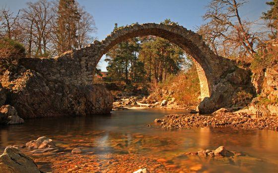 Фото бесплатно река, камни, арка