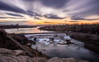 Бесплатные фото дамба,река,скалы,небо