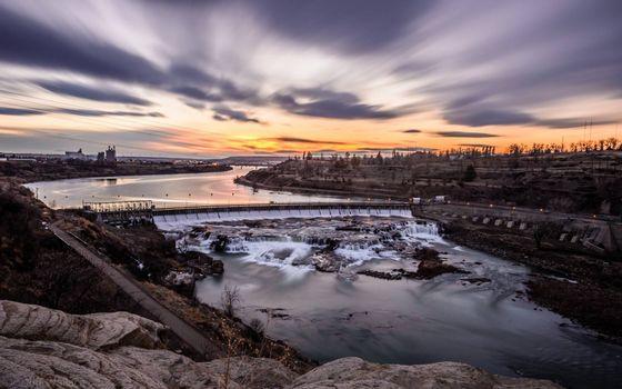 Photo free dam, river, rocks