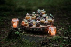 Бесплатные фото праздник, свадьба, декор, свечи, еда, кексы, выпечка
