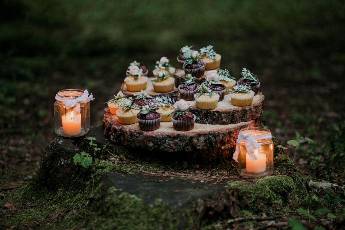 Фото бесплатно праздник, свадьба, декор, свечи, еда, кексы, выпечка, праздники