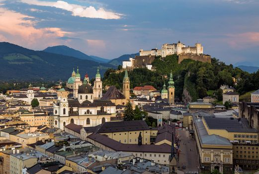 Photo free The castle of Salzburg with views of the Old town, Salzburg, Austria