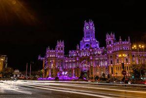 Фото бесплатно Мадрид, Испания, огни