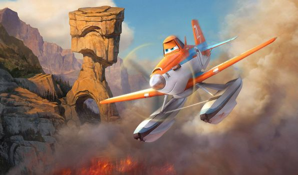 Заставки Самолеты: Огонь и вода, мультфильм, комедия