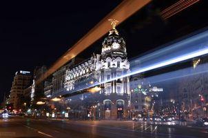 Бесплатные фото Madrid,Spain,Мадрид,Испания,город,ночь,огни