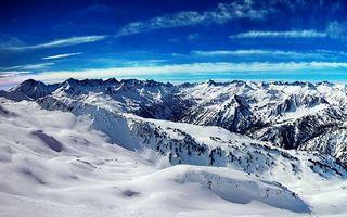 Фото бесплатно вершины, зима, небо