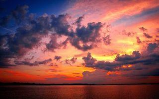 Фото бесплатно небо, вечер, озеро