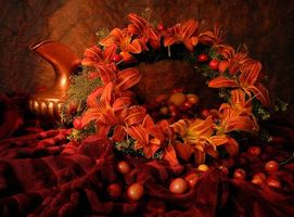 Фото бесплатно винок, помидоры, ваза