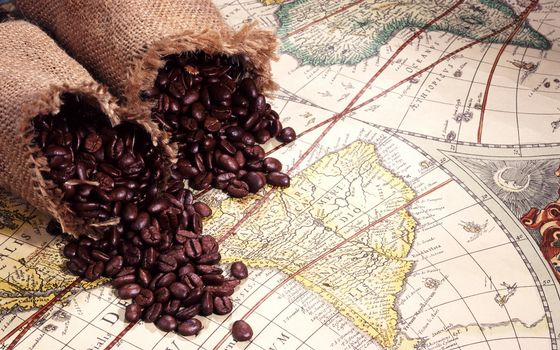 Photo free coffee, grain, card