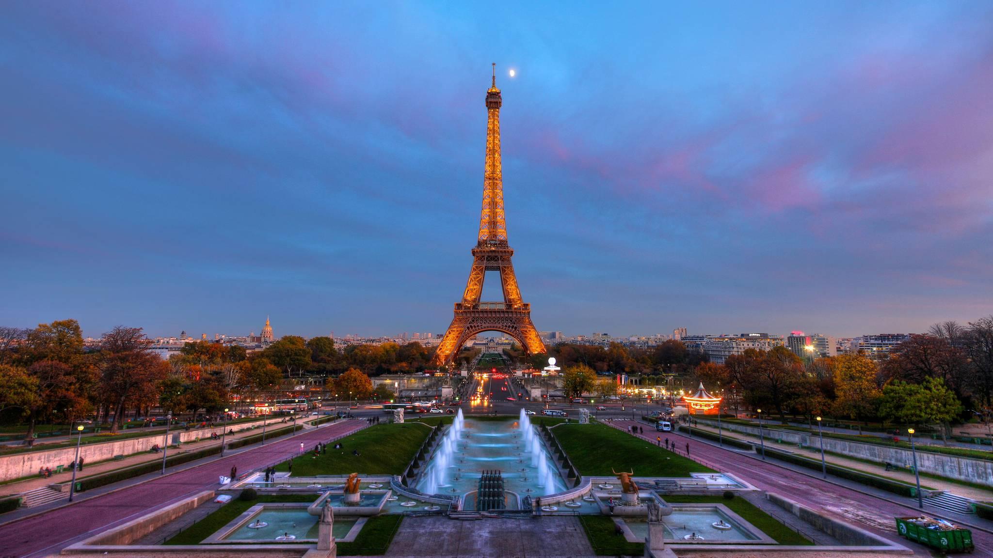 природа страны архитектура Марсово поле Париж Франция  № 824048 загрузить
