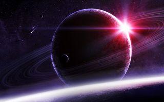 Фото бесплатно планеты, кольца, пояс, солнце, звезды, метеориты