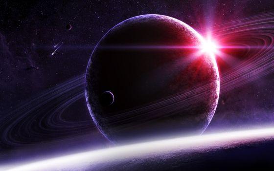Бесплатные фото планеты,кольца,пояс,солнце,звезды,метеориты