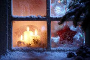 Фото бесплатно Новый год, обои Новый год, свечи
