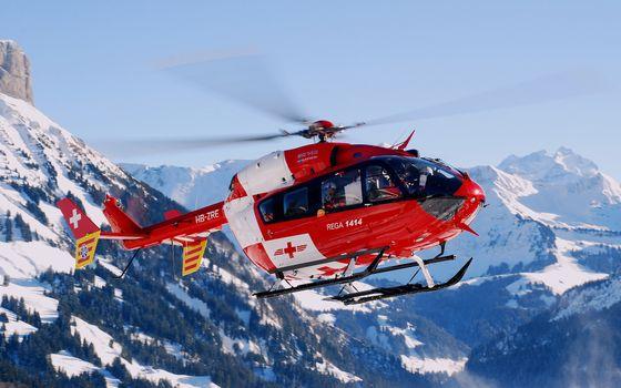 Фото бесплатно вертолет, медицинский, спасатели