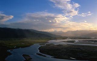Фото бесплатно долина, предгорье, река